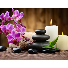 kai ping mei park diamond embroidery 5D DIY diamond painting diamond mosaic orchid candle digital painting stickers YC37