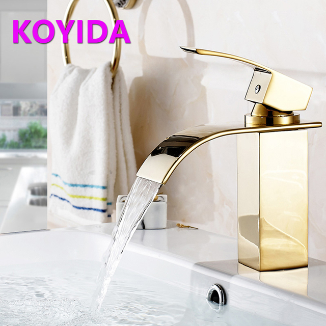 KOYIDA Waterfall Faucet Bathroom Decorative Brass Faucets Hot And ...