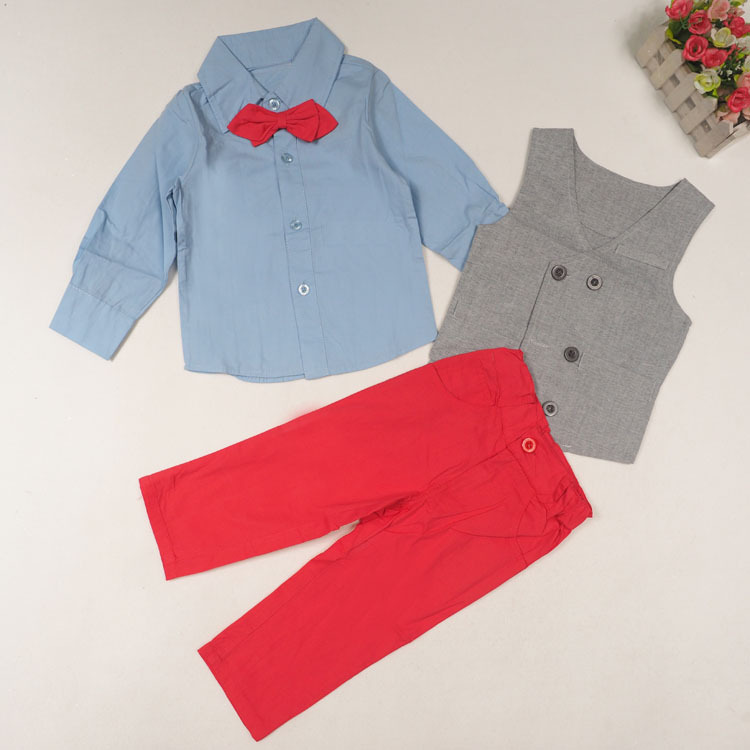 c7779b748 DHL EMS Free shipping baby boys Toddlers NEW Gentlemen 3pc Suit shirt  Waistcoat Pants Kids Clothing Children Casual Set-in Clothing Sets from  Mother & Kids ...