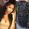 Glueless Full Lace Human Hair Wigs Wavy Lace Front Wig Unprocessed Virgin Peruvian Water Wave Wigs For Black Women 8-28 In Stock