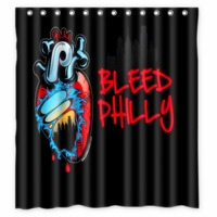 Anime Shower Curtain One Piece Dragon Ball Z Bleach Fairy Tail Naruto Together Philadelphia Phillies Shower