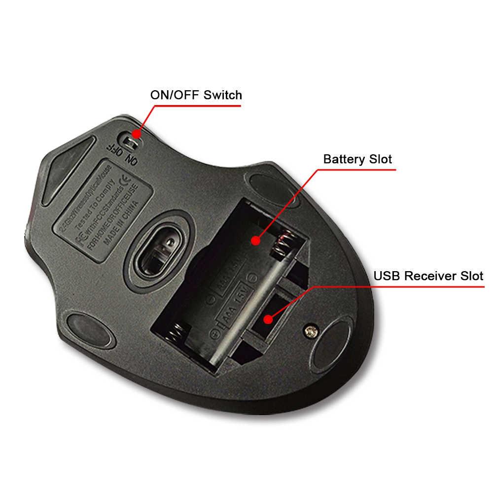 IMice bezprzewodowa mysz 4 przyciski 2000DPI Mause 2.4G optyczna USB cicha mysz ergonomiczne myszy bezprzewodowa do laptopa komputer stancjonarny mysz
