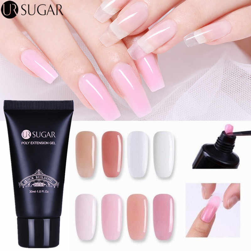 Ur Suiker 30 Ml Poly Nail Gel Vinger Extension Clear Roze Jelly Gel Quick Building Nail Tips Verlengen Builder Uv gel