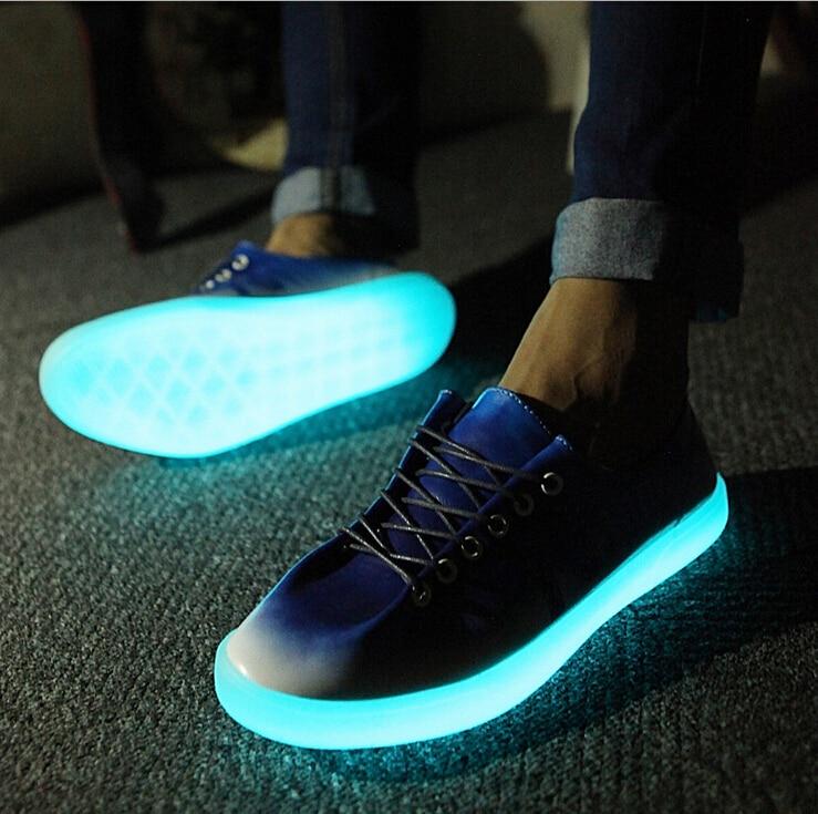 Men's Shark nigh light shoes Men glow