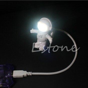 Gadżet-2015 najnowszy astronauta USB Powered Mini LED biała lampka nocna żarówka do laptopa PC Reading-podkładka pod mysz