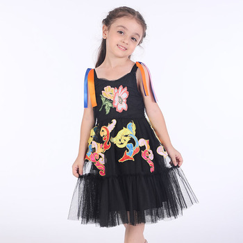 Girls Party Dress Toddler Clothing Flower Embroidery Kids Dresses for Girls Summer Clothes Princess Lace Dress Children Vestidos Платье