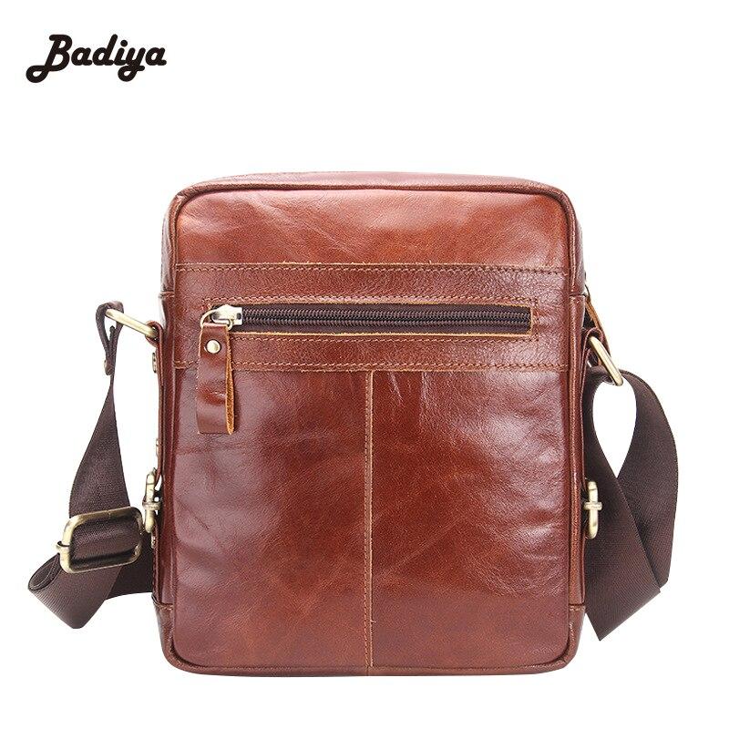 Mens Messenger Bags Genuine Leather High Quality Briefcase Crossbody Business Shoulder Bags Zipper Sac Small Flap Male Handbags