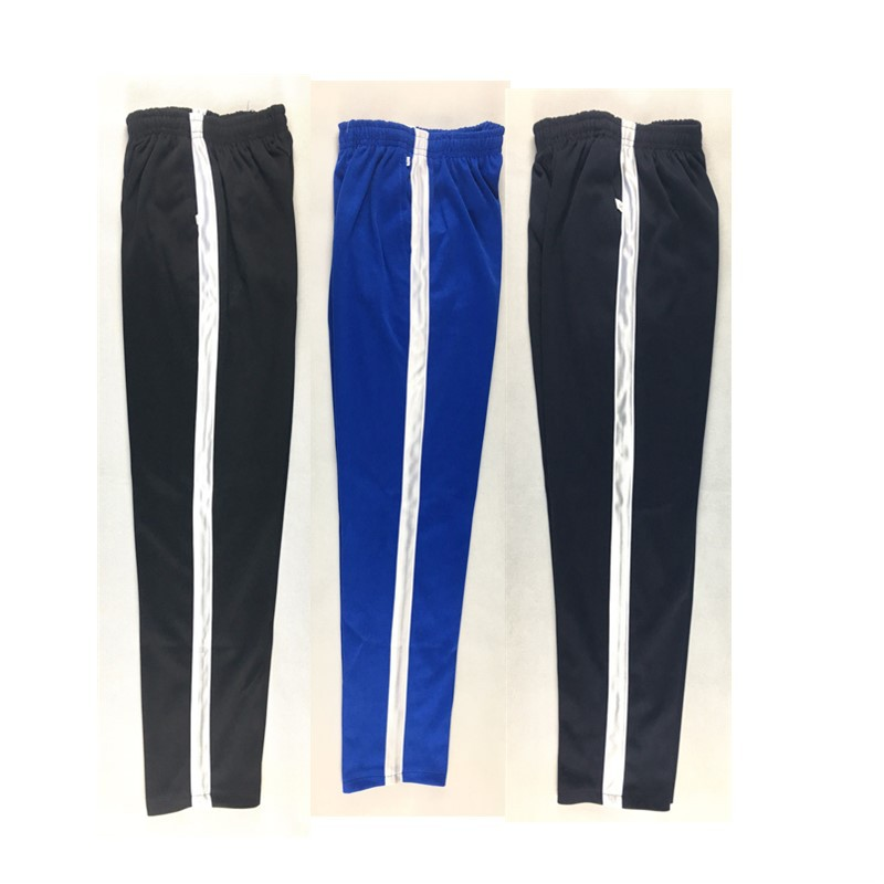 2019 Summer Men's Casual Sweatpants Men Jogger Basic Trousers Tracksuit Side Stripe Bottoms Breathable Sportswear Track Pants