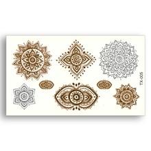 2pcs Mandalas Fake Tattoo Metallic Gold Sliver Waterproof Temporary Stickers Water Transfer Sexy Glitter Body Art Beauty Jewelry
