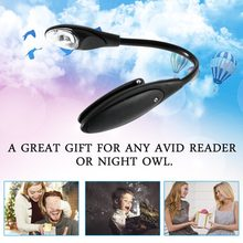 1 pc Mini Flexible Clip-On Bright Book Light Laptop White LED Book Reading Light Lamp(China)