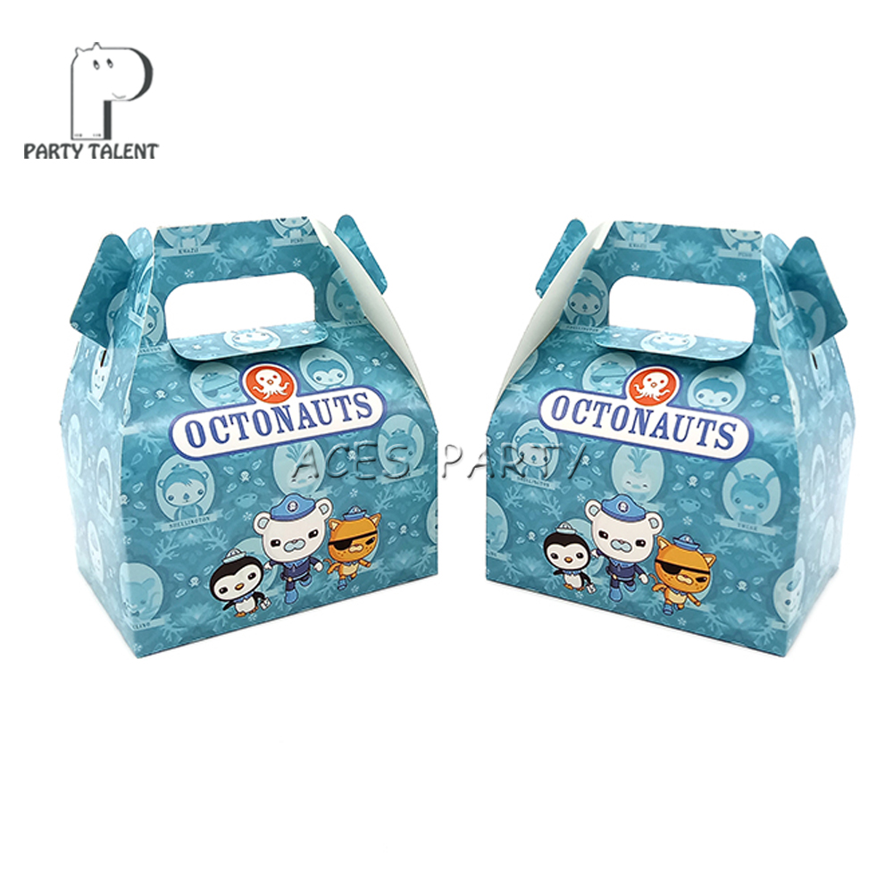 Image 4 - 24pcs/lot Candy Box Cake Box GIft Box for Kids Octonauts Theme Party Baby Shower Party Decoration Party Favor Supplies-in Gift Bags & Wrapping Supplies from Home & Garden