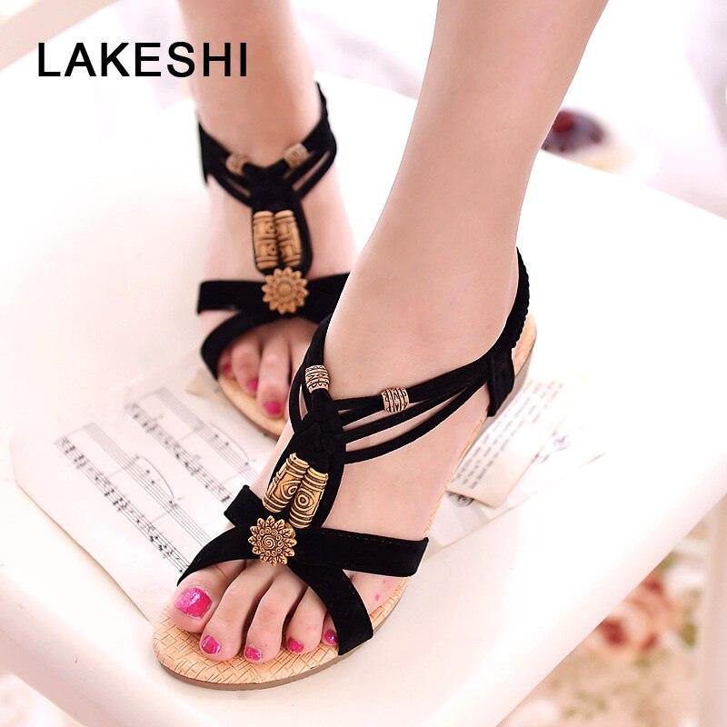 Fashion Women Sandals Comfort Flat Sandals Summer Flip Flops Ladies Shoes Non-slip Female Sandalias Wedge Sandals Women Shoes girl shoes in sri lanka