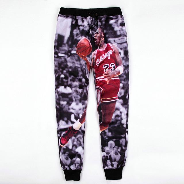 Hombres/Mujeres Baggy Basculador Pantalón Harem Pantalones Deportivos Pantalones Impresos Muchachos Jordan Corredores Hip Hop Pantalones Casuales