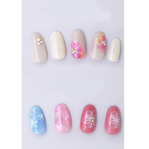 Image 4 - 1 sheet NailMAD Lotus Nail Sticker White Transparent Flower 3D Nail Art Stickers Nail Stickers Nail Decals