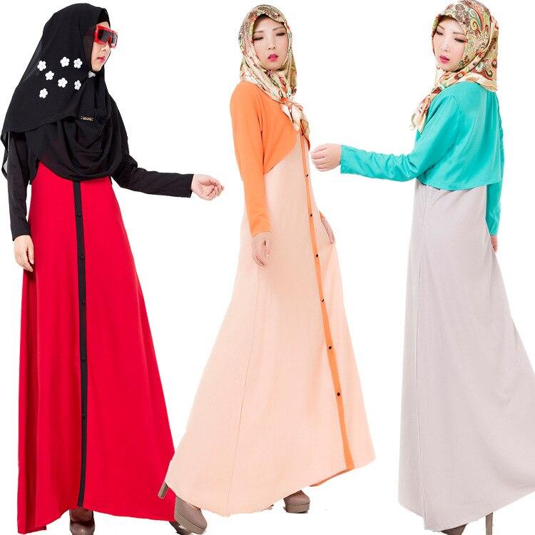 Muslim Adult Fake Two-piece Dress Islamic Women Worship Costumes Ethnic Girl Long Dress Malaysia Turkish Lady Clothes Abaya