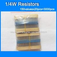 1 4W Color Ring Resistor Kit Resistor Pack 120valuesX20pcs 2400pcs