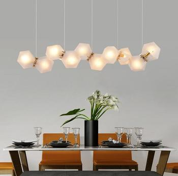 Nordic Post modern Chandelier Glass Creative Led Lighting Living room Restaurant Bedroom Personality Clothing store Lamps