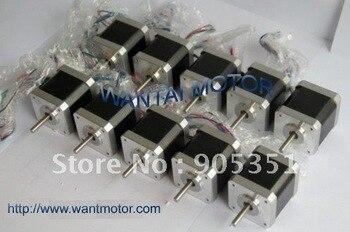 10 PCS CNC Nema17 for 1.7A, 4000g.cm, 40mm length,2 phase Wantai Stepper Motor