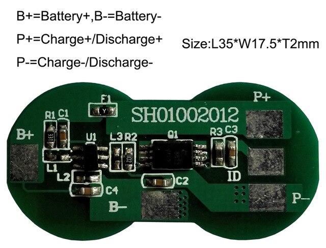 10PCS/LOT 18650 Protection Board 3.7V 1S 2A BMS PCM PCB Battery Protection Board For Li-ion lithium Battery Cell Pack hot sale battery bms protection pcb board for 3 4 pack 18650 li ion lithium battery cell for rc parts