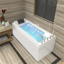Household Wall Corner Bathtub Home Bathroom Adult Acrylic Surfing With Massage Function Whirlpool 1.4m