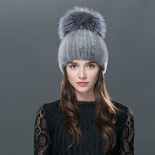 Чистый цвет 2016 новые продукты продают как горячие пирожки зимой норки шляпа также мяч норка вязаная шапка шапки для женщин капот берет