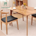 Real wood chair contracted Nordic armrest chair fraxinus mandshurica visitor study meal chair
