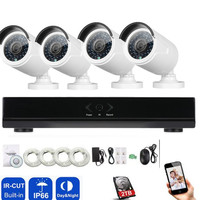 4CH 720P Network POE NVR Kit CCTV Security System 1 0MP IP Camera Outdoor IR