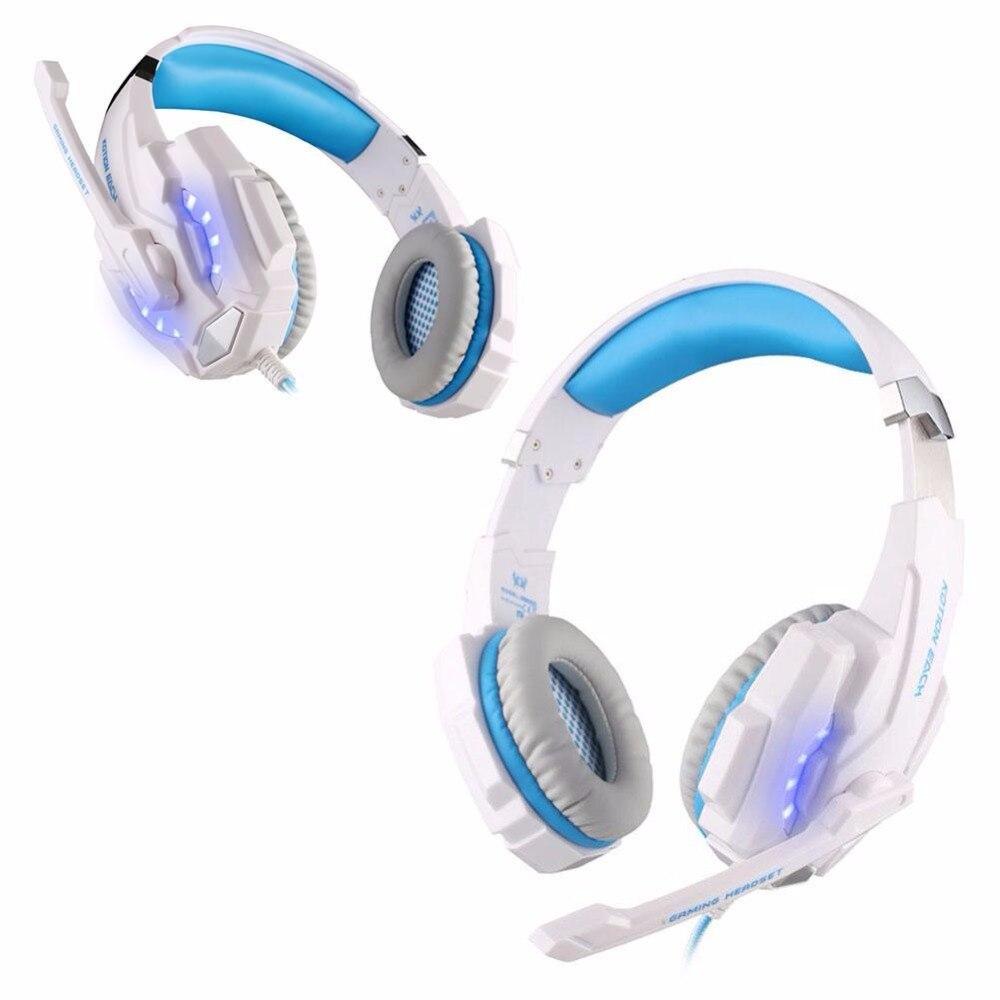 Computer PC Laptop Multimedia Headphone Headset w/ Microphone USB 7.1 White