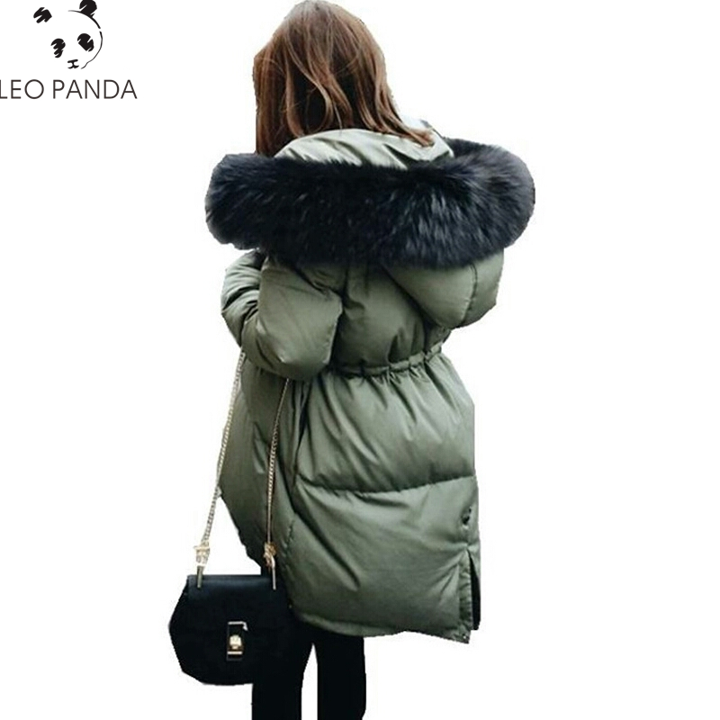 2018 Winter Jacket Women Thickening Parkas Coat Fashion Mid Long Female Down Jacket With Hood Large Faux Fur Collar Parka LCY646 2017 winter new arrival female medium long down coat thickening large fur collar women s fashion women coat