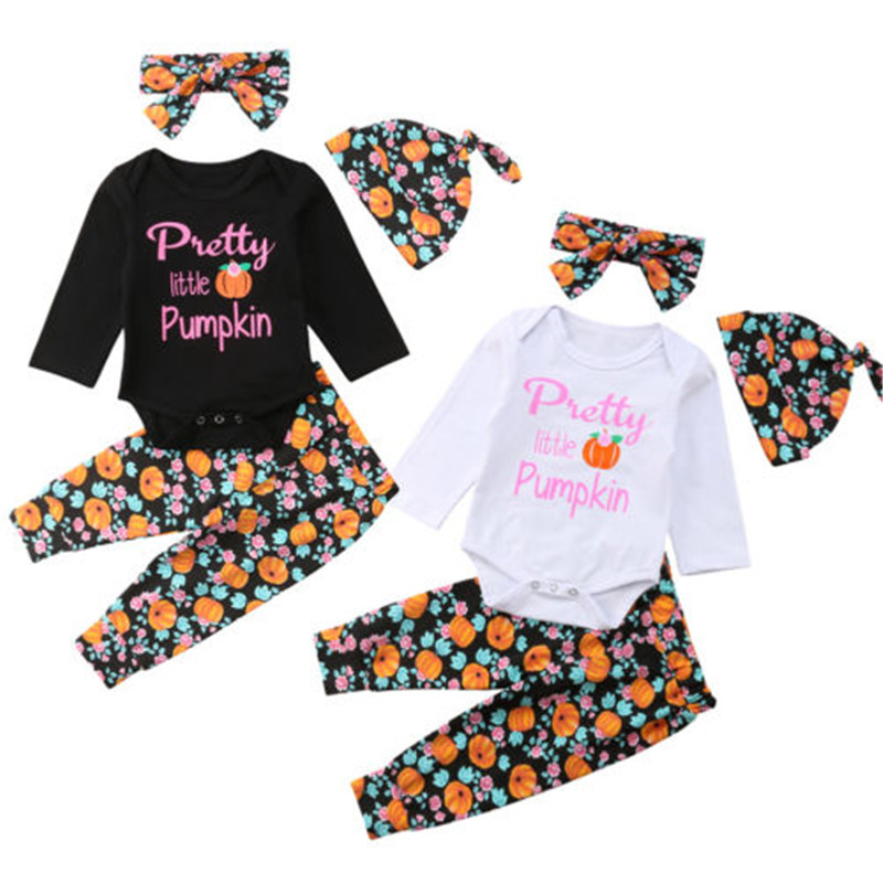Mother & Kids Canis Halloween Newborn Toddler Baby Boy Girl Print Bebe Boys Girls Clothes T-shirt Tops Bodysuit+pants Outfits Set 3pcs Cotton