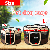 Dog Tent Portable Folding Pet tent Dog House Cage Dog Playpen Puppy Kennel Easy Operation Octagonal Fence Outdoor Supplies