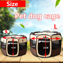 Dog Tent Portable Folding Pet tent Dog House Cage Dog Playpen Puppy Kennel Easy Operation Octagonal Fence Outdoor Supplies(China)