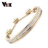 New Brand Women Bangle Bracelet Top Quality Satainless Steel Jewelry Shiny Double Raw Rhinestone