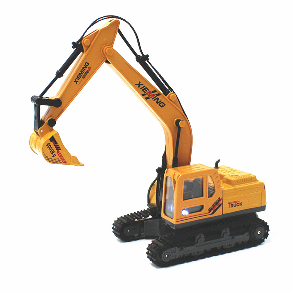 Diecast alloy construction vehicle RC Engineering Truck Model Classic Toy Remote Control RC Truck Simulation Alloy Excavator rc excavator 15ch 2 4g remote control constructing truck crawler digger model electronic engineering truck toy радиоуправляемые ма