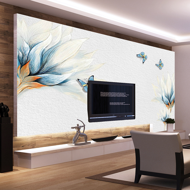 2017 New Elegant Floral Blossom Mural Non-woven Fabric Wallpapers Large 3d Wallpaper Wall for Livingroom Bedroom Art Decor fashion rustic wallpaper 3d non woven wallpapers pastoral floral wall paper mural design bedroom wallpaper contact home decor