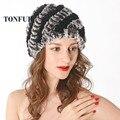 2017 Nueva venta caliente de la manera real de conejo rex sombrero de piel de las mujeres gorros de piel de invierno de piel de conejo gruesa sombrero lots Envío Libre del color WA536