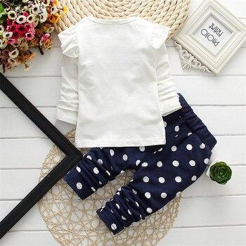 2019 Spring New Children's Clothing Fashion Baby Girl Out 2pcs Suit Coat +pant Cartoon Set Newborn Baby Cotton Clothes Suit 4