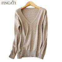 Pure Cashmere Pullover Sweater 2017 Autumn Winter High Quality Deep V Neck Raglan Sleeve Soft Skin