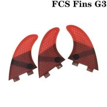 FCS G3 Quilhas Fins Surfboard Fin Honeycomb Fibreglass Red color
