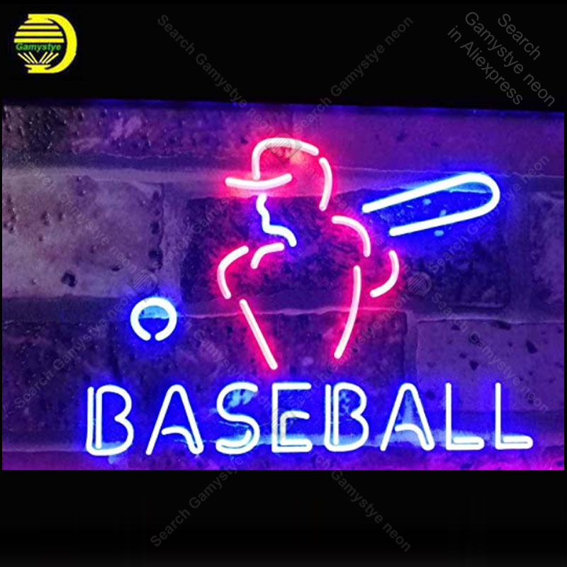 Neon Sign for Baseball Sport Man Real Glass Tube Neon Bulb Signboard decorate restaurant Handcraft sign Light up sign lamparaNeon Sign for Baseball Sport Man Real Glass Tube Neon Bulb Signboard decorate restaurant Handcraft sign Light up sign lampara