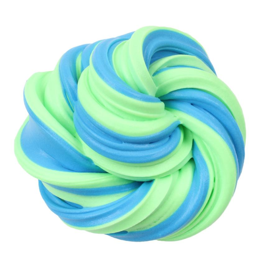 5-MB Child Children Boy Girl Kid toys Beautiful Color Cloud Slime Squishy Putty Scented Stress Kids Clay Toy