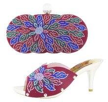 2016 neue Ankunft Europa Stil Mode Frauen Schuhe Und Tasche Set sommer Pumpt Schuhe Und Tasche Set Für Party Freies Verschiffen YN1-10