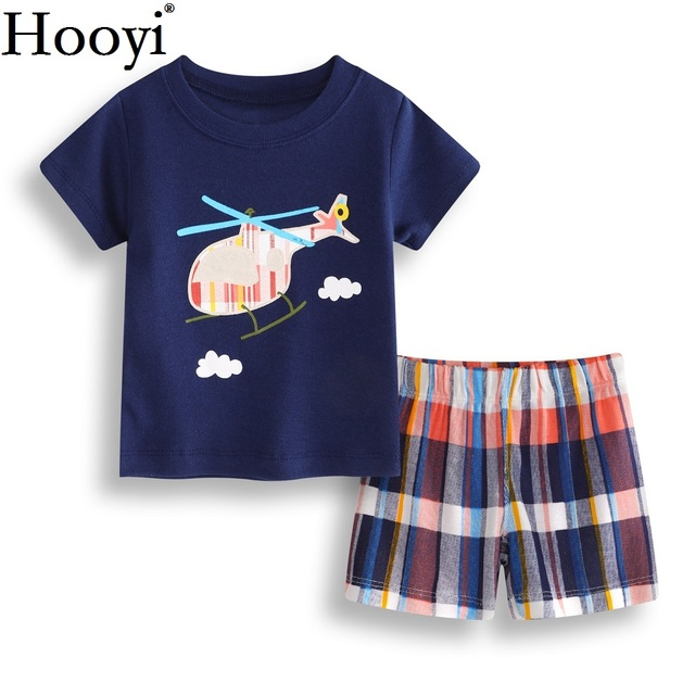 efa76e59393f Helicopter Baby Boy Clothes Suit 6 9 12 18 24 Month Newborn Clothing Sets  Children T-Shirt Pant Summer Outfit Soft 100% Cotton