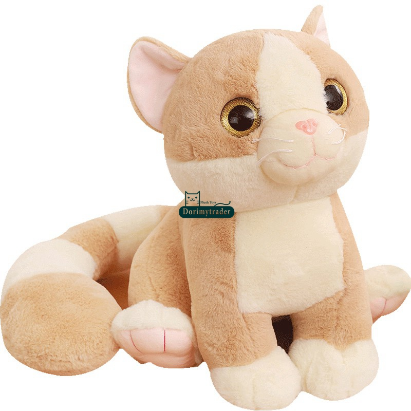 Dorimytrader New Lovely Big 65cm Soft Cartoon Cat Plush Doll 26'' Stuffed Lovely Animal Cats Toy Kids Play Doll Gift DY60152