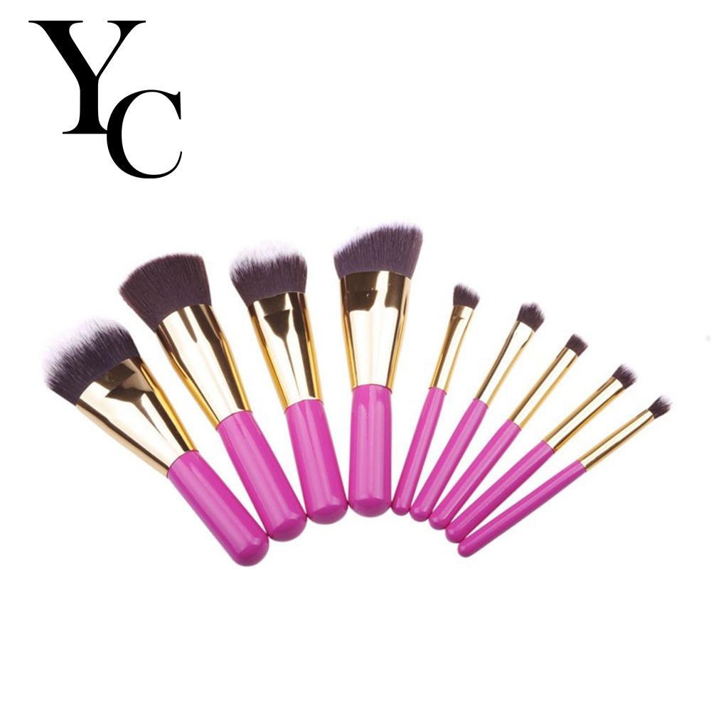 Yansh  Makeup Brushes 9pcs Make Up brushes Set Foundation  Nose Highlighter Eyebrow Eyeshadow Lip Makeup Brush Set