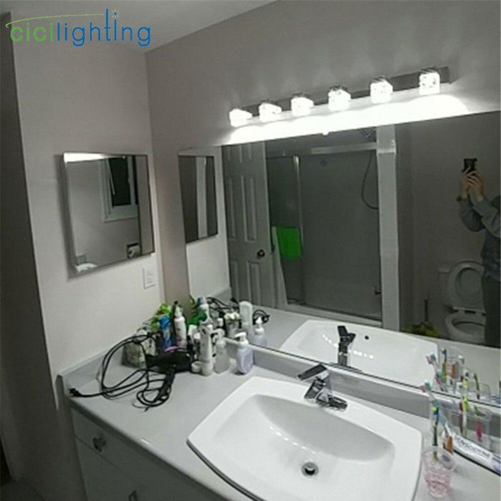 Image 5 - Светодиодный настенный светильник с хрустальным зеркалом, передний светильник для ванной комнаты, настенный светильник s, современный настенный светильник для спальни, гостиной-in Светодиодные комнатные настенные лампы from Лампы и освещение