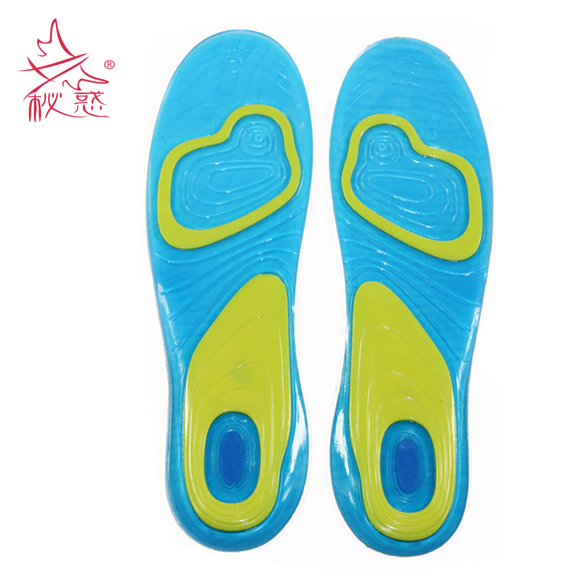 1 Pair Gel Insoles Sports Massage Healthy Orthopedic Insoles Gentle Pain Damping Pad Deodorant Insoles For Shoes Cushion