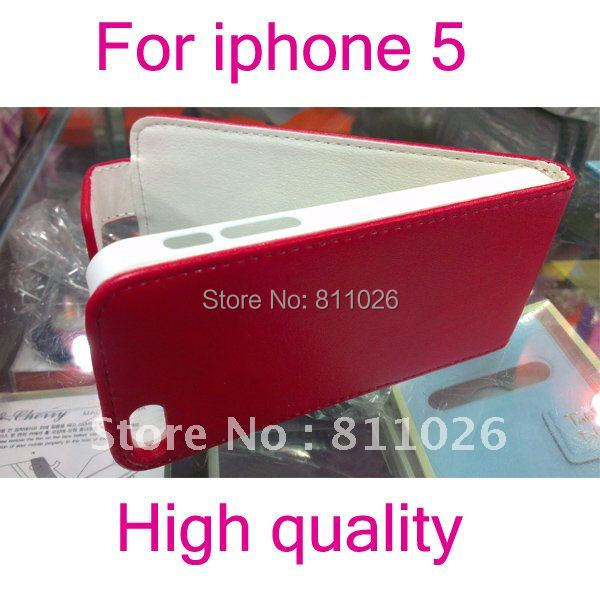Free shipping Flip Holster Leather Pouch Cover Case for iphone5 PU Leather Case for iphone 5 ,1pcs/lot