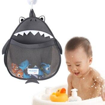 아기 목욕 장난감 저장 가방 만화 모양 저장소 교수형 가방 후크 방수 욕실 메쉬 가방