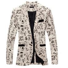 9 цвет M-XXL мужчины пиджак приталенный fit костюм мужчины хлопок и лён цветок ткань цвет соответствующие куртка мужчины костюм